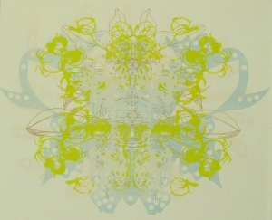 orchid (green/blue), silk screen print 2013