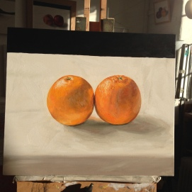 kissing oranges