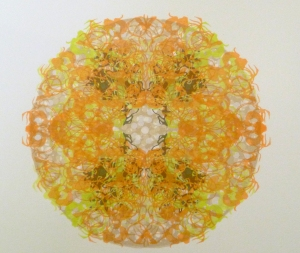 predatory thicket (orange) silk screen print 2013