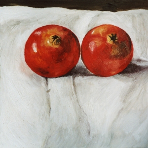 two pomegranatesoil on board 2006